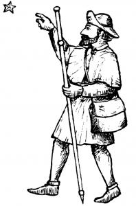 Pilegrim figur bak